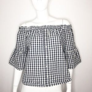 Abercrombie & Fitch size Small Gingham boho top